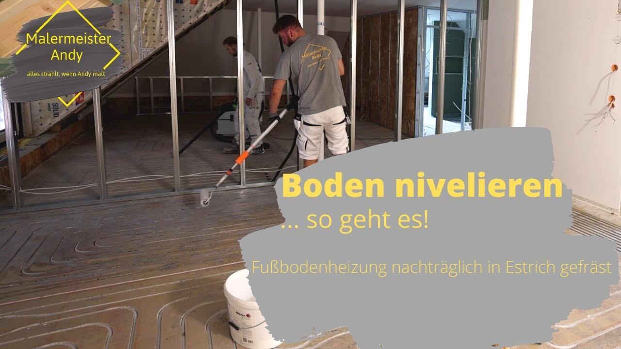 Fußboden nivellieren