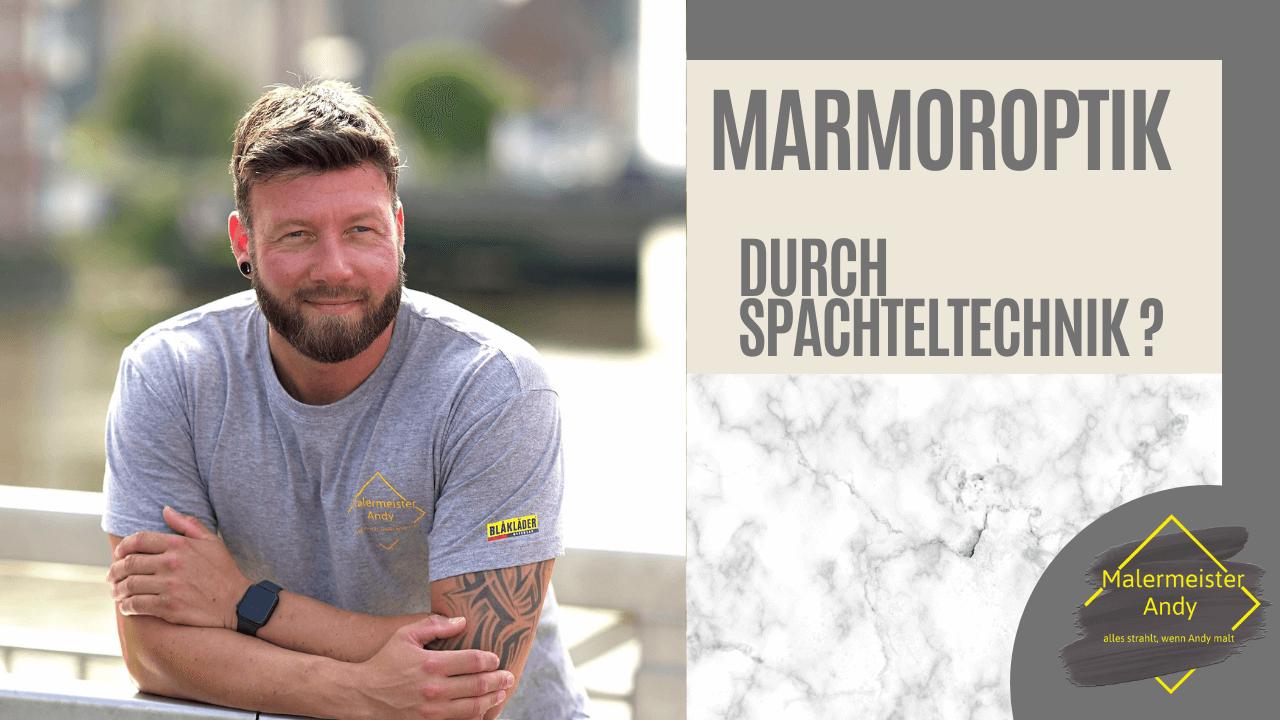 Marmoroptik mit Spachteltechnik