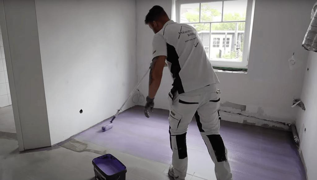 Vinylboden Kleber aufbringen