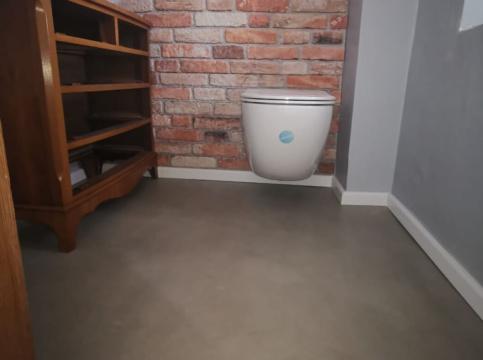 gespachtelter Fußboden